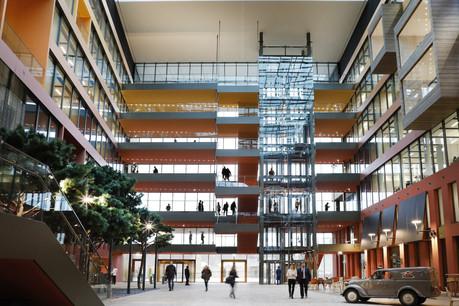 C'est le bureau parisien Lonsdale qui a réalisé le design intérieur de ces espaces conçus par Perry Weber & Associés pour le siège du groupeFerrero. (Photo: Jacques Giral)