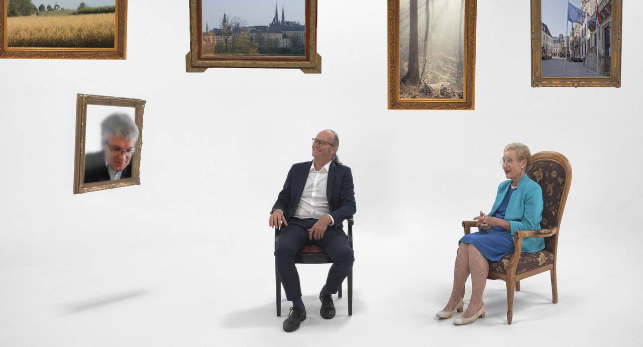 Le documentaire était aussi innovant en termes de technologie, puisque les intervenants (comme le ministre de l'Énergie, ClaudeTurmes, et l'ancienne ministre ErnaHennicot-Schoepges) ne se sont pas rencontrés, mais on interagit les uns avec les autres comme dans un salon de réalité virtuelle. (Photo: Enzo Ridinger)