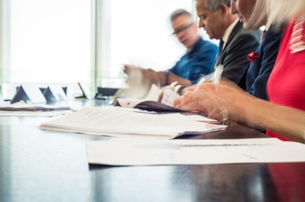 À 17h, le renouvellement des conventions collectives de travail du secteur des banques et de celui des assurances sera signé. (Photo: Mike Zenari/archives Maison Moderne)