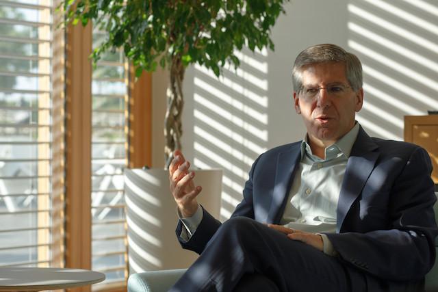 Le grand patron de PwC, Bob Moritz, était au Luxembourg cette semaine dans le cadre de l'ICT Spring. (Photo: Matic Zorman)