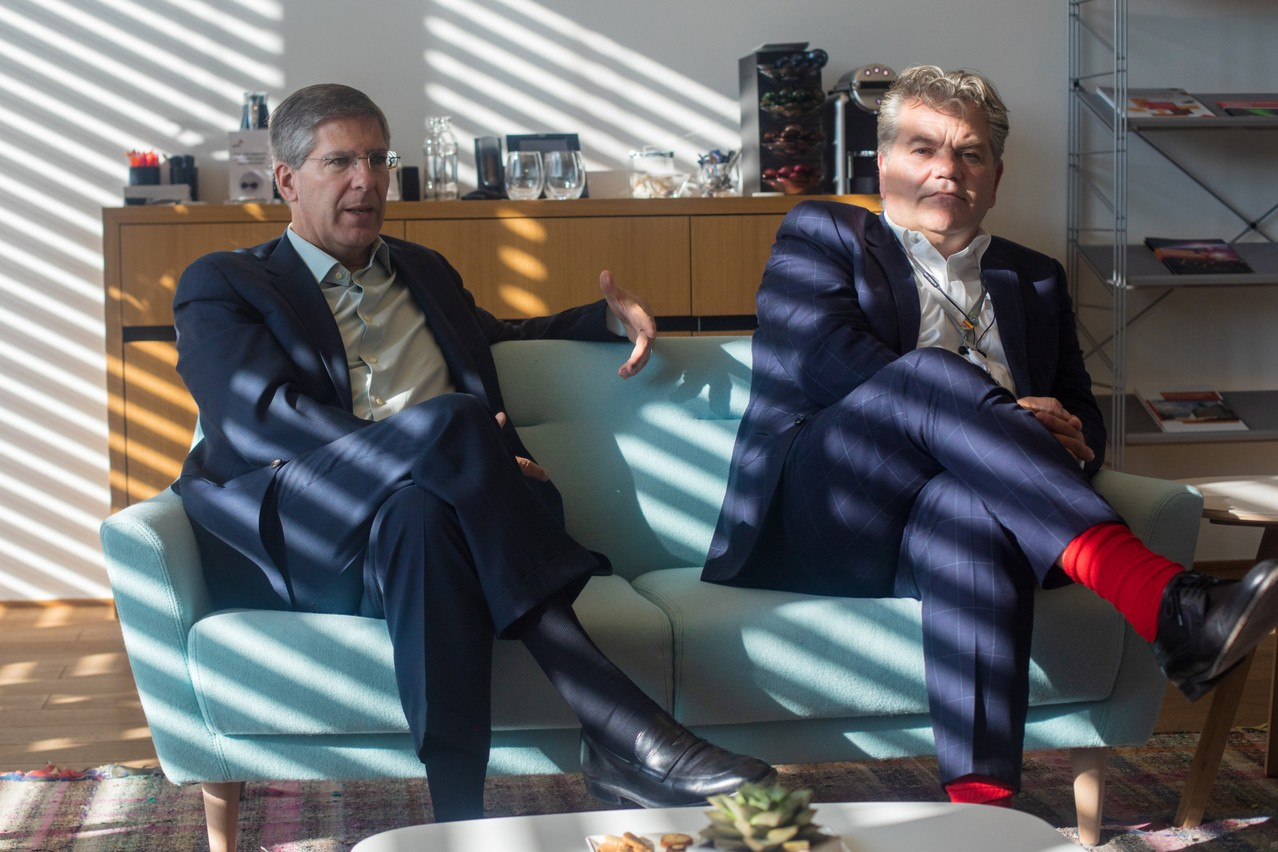 Bob Moritz et John Parkhouse, CEO de PwC Luxembourg. (Photo: Matic Zorman)