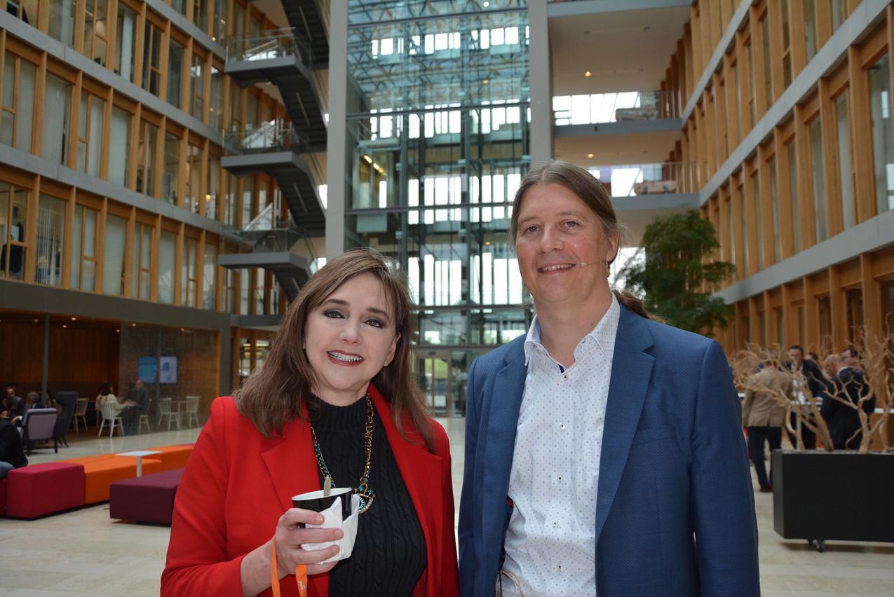 Aux côtés du leader Cybersecurity de PwC au Luxembourg, Koen Maris, Rebecca Herold a alerté, une fois encore, sur les risques liés à la prolifération des données liée au boom des appareils connectés. (Photo: PwC)