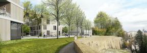 Le long de la corniche, on trouvera des immeubles résidentiels. ((Illustration: Christian Bauer & Associés Architectes – Areal Landscape Architecture – +Impakt))