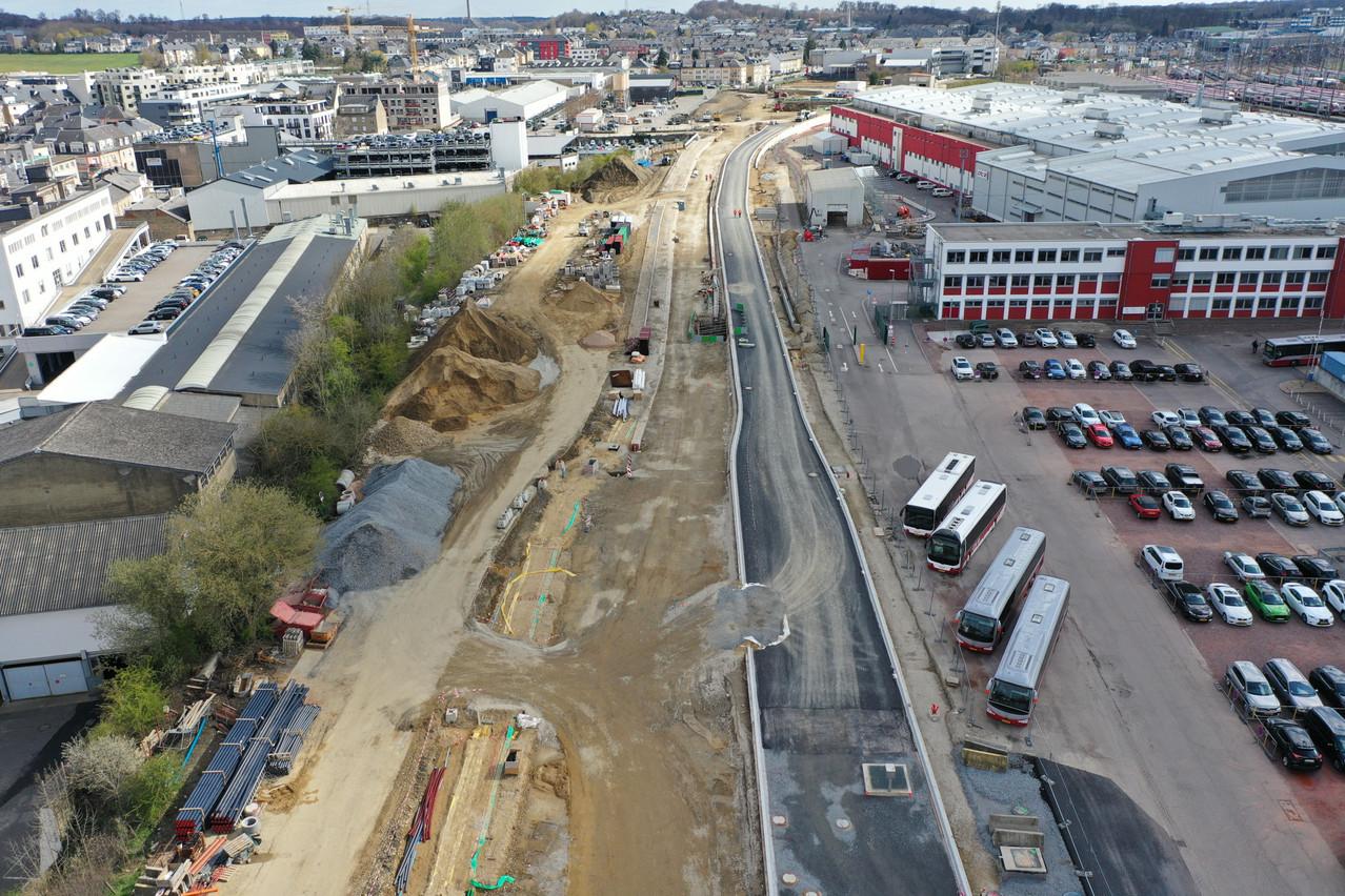 La nouvelle N3 est en construction entre la route de Thionville et le Rangwee. (Photo: Administration des ponts et chaussées)