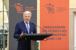 Didier Reynders, commissaire européen à la Justice. ((Photo: Romain Gamba/Maison Moderne))