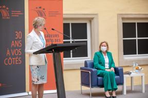 Karin Basenach, directrice du Centre Européen des Consommateurs et Paulette Lenert, ministre de la Protection des consommateurs. ((Photo: Romain Gamba/Maison Moderne))