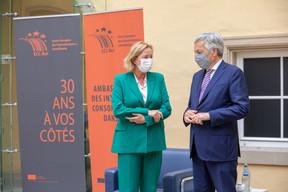 Paulette Lenert, ministre de la Protection des consommateurs, et Didier Reynders, commissaire européen à la Justice. ((Photo: Romain Gamba/Maison Moderne))