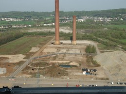 View of the former sintering ponds, before the urbanisation of the site. (Photo: Agora)