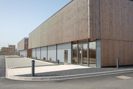 Les deux nouveaux bâtiments des Centres de compétences de l'artisanat occupent 5.000m² dans la zone d'activités économiques Krakelshaff. (Photo: Matic Zorman/Maison Moderne)