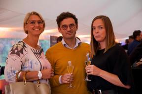 Caroline Lamboley (Lamboley executive search), Mehdi Magha (Handicap International) and Cynthia Lheureux (Art.M) (Photo: Christophe Debailleul/Maison Moderne)