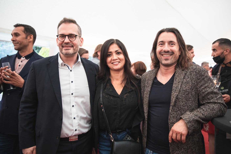 Gilles Hempel (Agence Immobilière Sociale), Norma Bello Cortes (JES'Tudio) and Jorge de Oliveira (Smart Cube) Christophe Debailleul