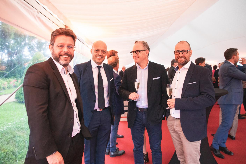 Nicolas Henckes (CLC), Fabien Zuili (Cap4Group), and Thierry Stas (Maprima) right Christophe Debailleul