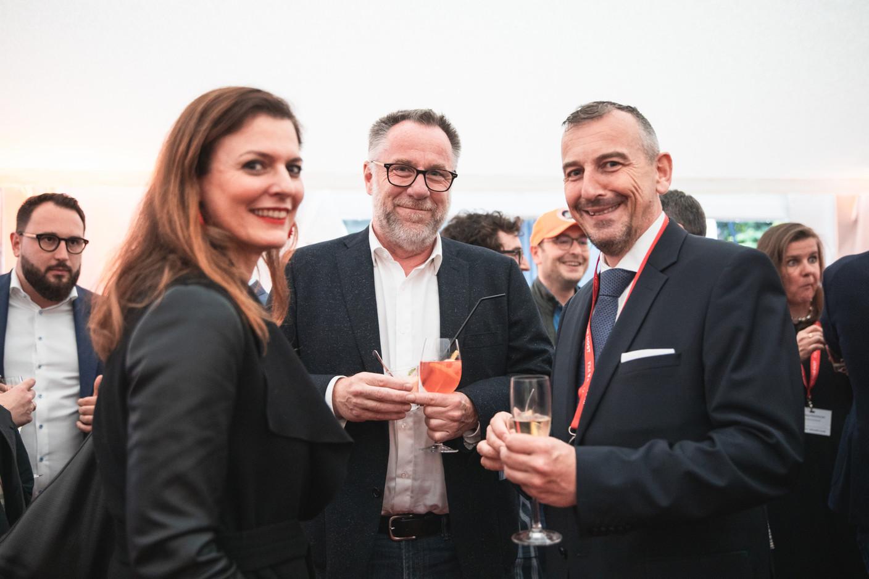 Nathalie Reuter (Maison Moderne), Daniel Eischen (Interact) and Jim Kent (Maison Moderne) Christophe Debailleul