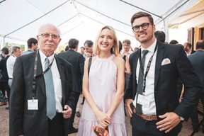 Jean-Pierre Hofnung (SCS Consulting), Jessica Jovenet -Eyermann (Etude Jovenet) et Bruno Van De Vloet (Advisory Key) ((Photo: Patricia Pitsch/Maison Moderne))