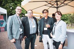 Auban Derreumaux (Innov'iction), Renaud Barbier (Renaud Barbier), Alain Gadreau (Triode Médiation & Coaching) et Valérie Hustadt (Netlux-Ras) ((Photo: Patricia Pitsch/Maison Moderne))