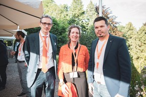 François Moyse (Moyse Bleser), Isabelle Ferlin (IF Conseil & Coaching) et Zafer Arslan (Homeseek Limpertsberg) ((Photo: Patricia Pitsch/Maison Moderne))