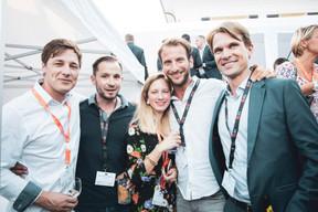 Laurent Faber, Bruno Leite Queiros (Joa Group), Anna Katina, Erick Durand et Matthias May (Engel & Völkers Luxembourg) ((Photo: Patricia Pitsch/Maison Moderne))