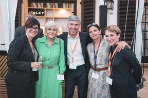 Barbara Brecko (Ginkgo Solutions Facilities), Carole Tisaurin, Romain Muller, Angélique Sabron (JLL) et Marie Lucas (M3 Architectes) ((Photo: Patricia Pitsch/Maison Moderne))