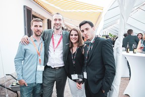 Jerry Wagner (Apothecary), Nicolas Pouilleux (Maison Moderne), Tania Henriques (M2B - Mobilier2Buro) et Chris Ribeira (StudyFox) ((Photo: Patricia Pitsch/Maison Moderne))