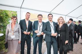 Mélanie Juredieu (Maison Moderne), Mark Jan Bettink (Propertize), Marco Schalkwijk (BARCO), Kasper Hermans (Propertize) et Pascale Kraft (Medi-K) ((Photo: Patricia Pitsch/Maison Moderne))