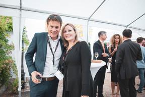 Marco Schalkwijk (BARCO) et Pascale Kraft (Medi-K) ((Photo: Patricia Pitsch/Maison Moderne))