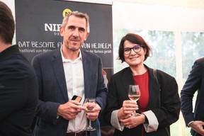 Christophe Herrmann (CLE) et Tatjana von Bonkewitz (Hofstede Insights) ((Photo: Christophe Debailleul/Maison Moderne))