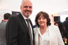 Luc Provost (B Medical Systems) et Nicole Jourdy (La Sartoriale) ((Photo: Christophe Debailleul/Maison Moderne))