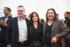 Gilles Hempel (Agence Immobilière Sociale), Norma Bello Cortes (JES'Tudio) et Jorge de Oliveira (Smart Cube) ((Photo: Christophe Debailleul/Maison Moderne))
