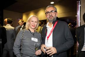 Martine Kerschenmeyer (Korn Ferry) et Mike Koedinger (Maison Moderne) ((Photo: Patricia Pitsch))