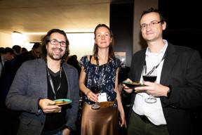 Jorge De Oliveira (Smart Cube), Ekaterina Bereziy (ExoAtlet) et Didier Hermant (IT Perform) ((Photo: Patricia Pitsch))