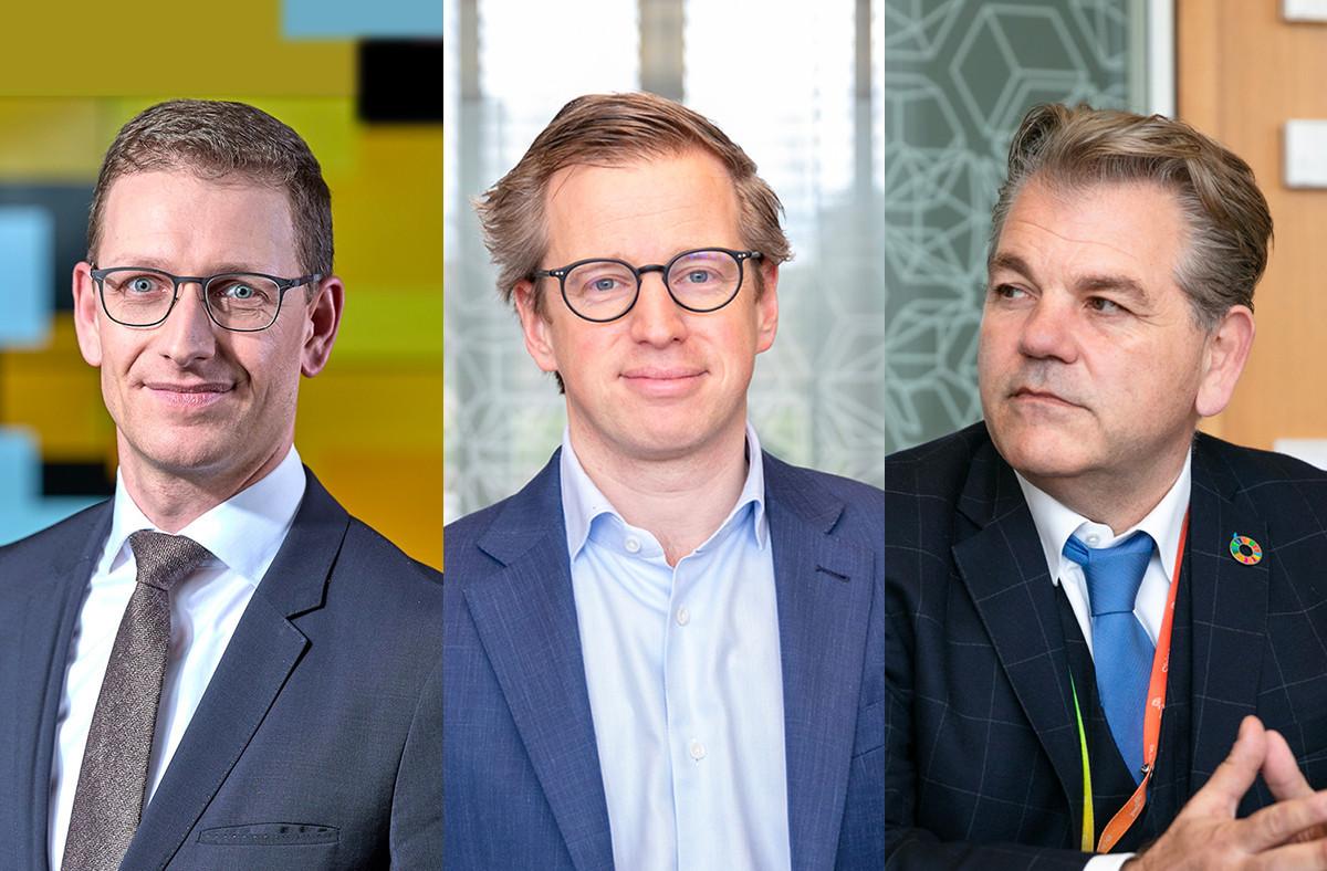 Olivier Carré, François Mousel et John Parkhouse ont détaillé pour Paperjam le volet luxembourgeois de la nouvelle étude CEO Survey de PwC. (Photos: PwC et Romain Gamba/Maison Moderne)