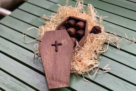 La Boîte tout choco de Genaveh, un nom tout doux qui cache un concept chocolaté effrayant pour Halloween… (Photo: Maison Moderne)