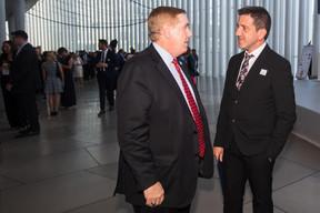 Randolph Evans (ambassadeur des États-Unis au Luxembourg) et Thierry Labro (Maison Moderne). ((Photo: Nader Ghavami))