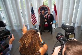 À droite, Randolph Evans (ambassadeur des États-Unis au Luxembourg). ((Photo: Nader Ghavami))