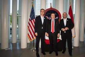 Félix Braz (ministre de la Justice), Randolph Evans (ambassadeur des États-Unis au Luxembourg) et Étienne Schneider (vice-Premier ministre). ((Photo: Nader Ghavami))