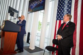 Buzz Aldrin et Randolph Evans (ambassadeur des États-Unis au Luxembourg). ((Photo: Nader Ghavami))