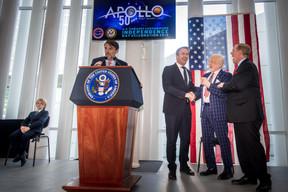 Xavier Bettel (Premier ministre) Buzz Aldrin, et Randolph Evans (ambassadeur des États-Unis au Luxembourg). ((Photo: Nader Ghavami))