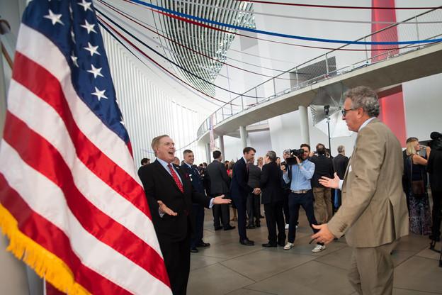 Randolph Evans (ambassadeur des États-Unis au Luxembourg) et Pierre Gramegna (ministre des Finances). (Photo: Nader Ghavami)