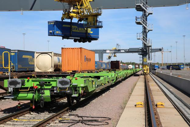 Transport de semi-remorque par rail. (Photo: CFL)