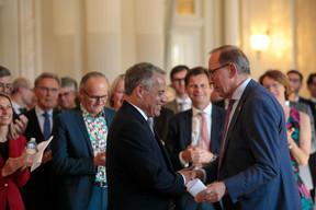 Guy Hoffmann (ABBL) et Robert Scharfe (Bourse de Luxembourg) ((Photo: Matic Zorman))