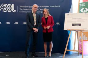 Claude Turmes (Ministre de l'Énergie) et Simone Dettling (UNEP FI) ((Photo: Matic Zorman))