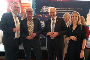 Claude Turmes (Ministre de l'Énergie), Heinrich Kreft et Jenny de Nijs ((Photo: Matic Zorman))