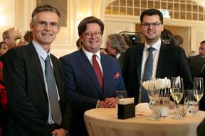 Philippe Prussen (Elvinger Hoss), Gilles Walers (ABBL) et Michael Wildscheck (JP Morgan Chase & Co) ((Photo: Matic Zorman))