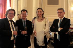 Pierre-Louis Colette (CA Indosuez Wealth), Olivier Maréchal (EY), Sandrine De Vuyst (ING) et François Dacquin (BGL BNP Paribas) ((Photo: Matic Zorman))