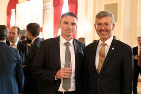 Jerry Grbic (Fortuna Banque) et Serge de Cillia (ABBL) ((Photo: Matic Zorman))