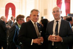 Guy Hoffmann (ABBL) et Philippe Seyll (Clearstream) ((Photo: Matic Zorman))