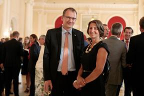 John Marshall (Ambassadeur du Royaume-Uni au Luxembourg) et Tonika Hirdman (Fondation de Luxembourg) ((Photo: Matic Zorman))