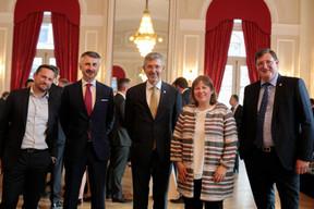 Michael Pechner, Serge de Cillia (ABBL), Corinne Lamesch (Alfi) et Yves Maas (ABBL) ((Photo: Matic Zorman))