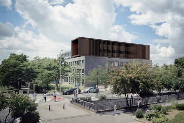 L'extension sera dotée d'une structure en bois, reflétant les tendances nouvelles en matière de construction. (Visuel: M3 Architectes SA – Chambre des métiers)