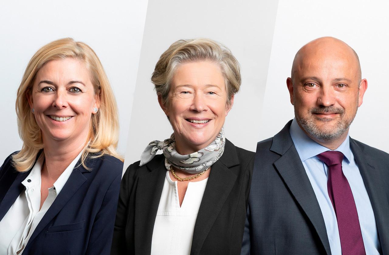 France Colas et SylvieHuret rejoignent DP AssetServices, alors que VincentDenis devient CFO de DP Luxembourg. (Photo: DP Luxembourg)